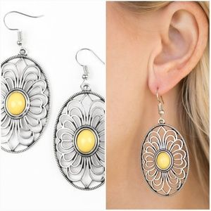 REALLY WHIMSY YELLOW EARRINGS